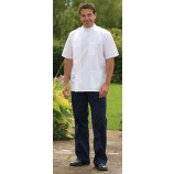Mens Mandarin Collar Tunic White