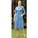 Stud Front Step In Dress Hospital Blue
