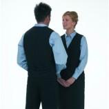 Unisex Lined Waiters Waistcoat Black XS