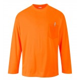 Portwest S579 Day-Vis Pocket Long Sleeve T-Shirt