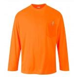 Portwest S579 Day-Vis Pocket Long Sleeve T-Shirt