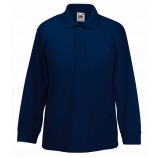 Fruit of the Loom SS45B  Kids Long Sleeve Polo