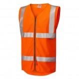 Leo Workwear Jacobstowe Iso 20471 Cl 2 Lfs/As Waistcoat Zip (En 14116/En 1149)