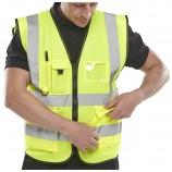 B-Seen WCENGEXEC EN471 Saturn Yellow Executive Vest