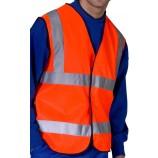 B-Seen WCENGOR Hi-Viz Waistcoat Orange