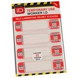 Vitalid WSID03 Hard Hat Id Temp Stickers Pk25