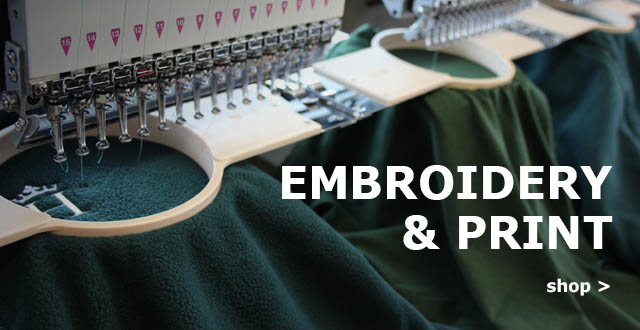 workwear embroidery and print