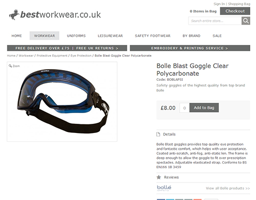Bolle Clear Goggles